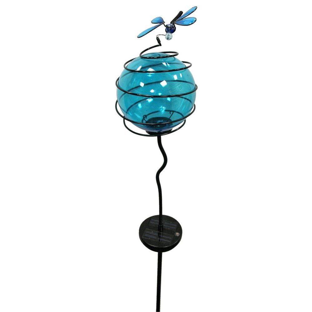 Hold All Outdoor LED Solar Globe Deco Dragonfly Path Light-DISCONTINUED