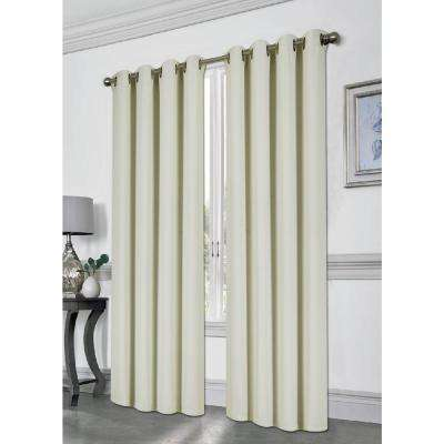 Tessa Beige 54 in. L Grommet Blackout Panel
