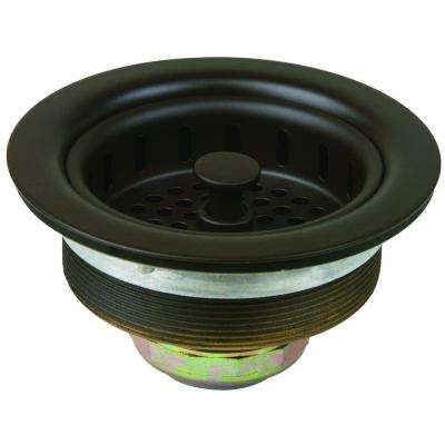 3-1/2 in. Post Style Basket Strainer with Nut and Washer in Oil Rubbed Bronze