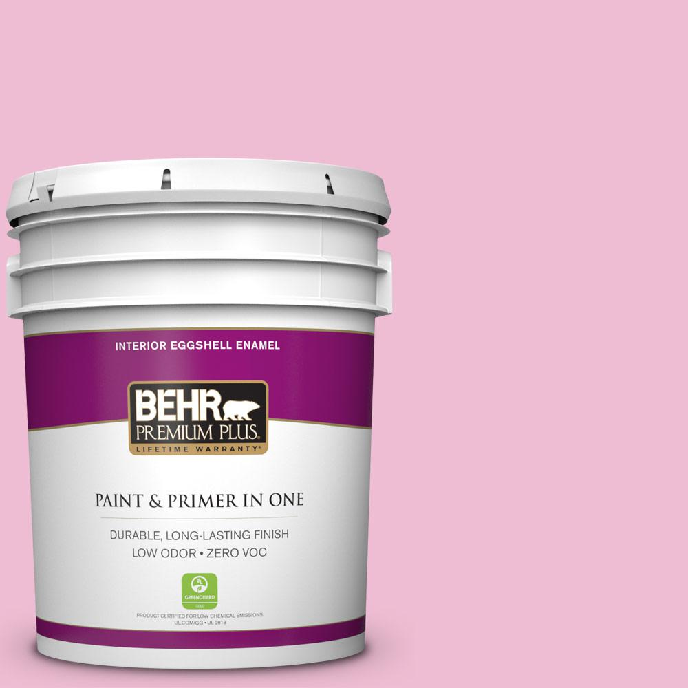 5-gal. #100B-4 Pink Chintz Zero VOC Eggshell Enamel Interior Paint