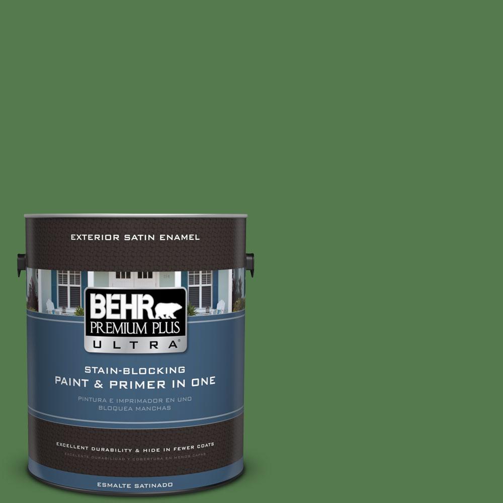 1-gal. #450D-7 Torrey Pine Satin Enamel Exterior Paint