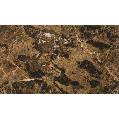 Marble Marrone Emperador Dark Polished 11.81 in. x 23.62 in. Marble Floor and Wall Tile