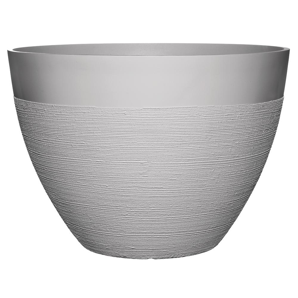 Decatur 22 in. Starlight White Resin Planter