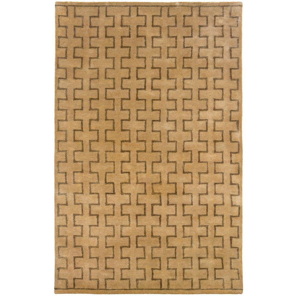 LR Resources Contemporary Natural Rectangle 5 ft. x 7 ft. 9 in. Plush Indoor Area Rug