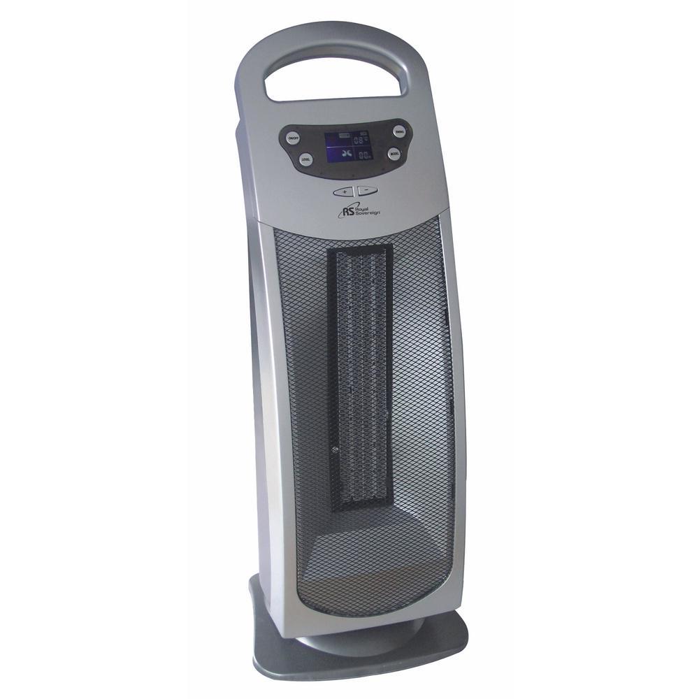 Royal Sovereign 1 500 Watt Oscillating Ceramic Tower Heater With Remote