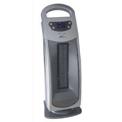 1,500-Watt Oscillating Ceramic Tower Heater with Remote