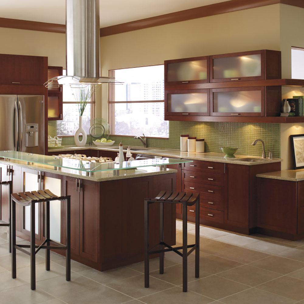 Thomasville Kitchen Cabinets >> Thomasville Nouveau Custom Kitchen Cabinets Shown In Modern
