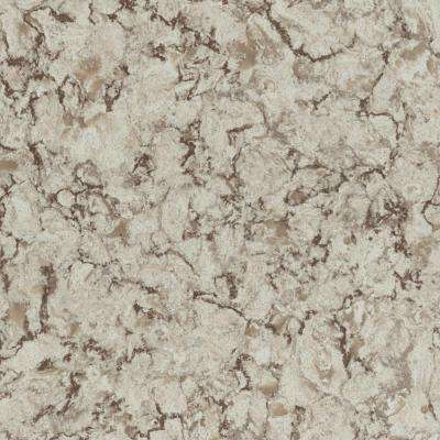 5 in. x 7 in. Laminate Countertop Sample in Star Dune with Matte Finish