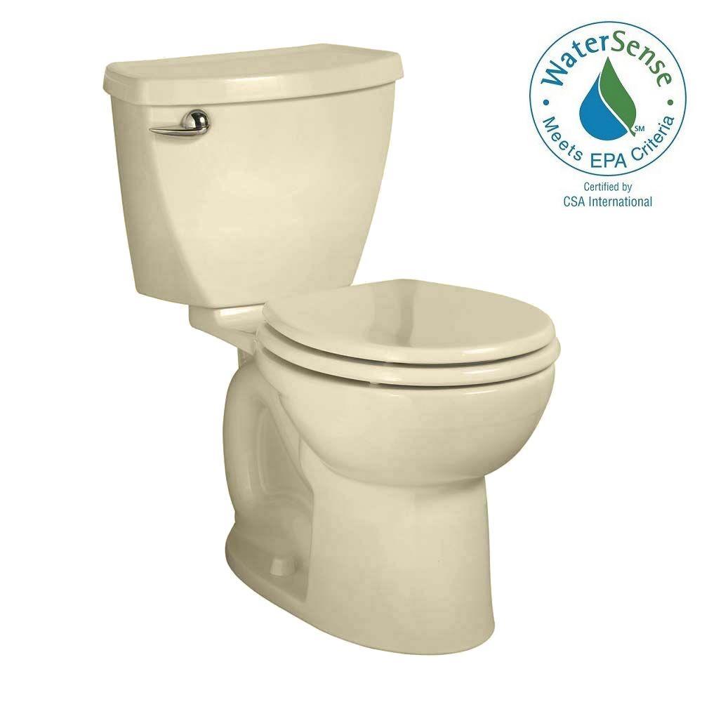 Cadet 3 Powerwash Tall Height 10 in. Rough 2-piece 1.28 GPF Single Flush Round Toilet in Bone