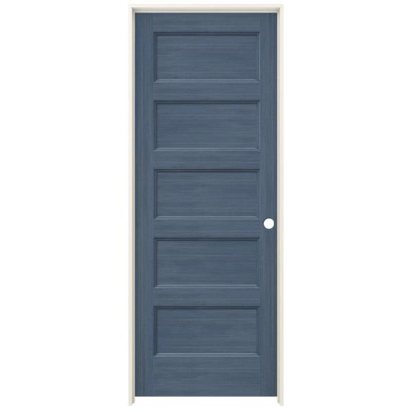 Jeld Wen 32 In X 80 In Conmore Denim Stain Smooth Solid Core Molded Composite Single Prehung Interior Door Thdjw236700232 The Home Depot