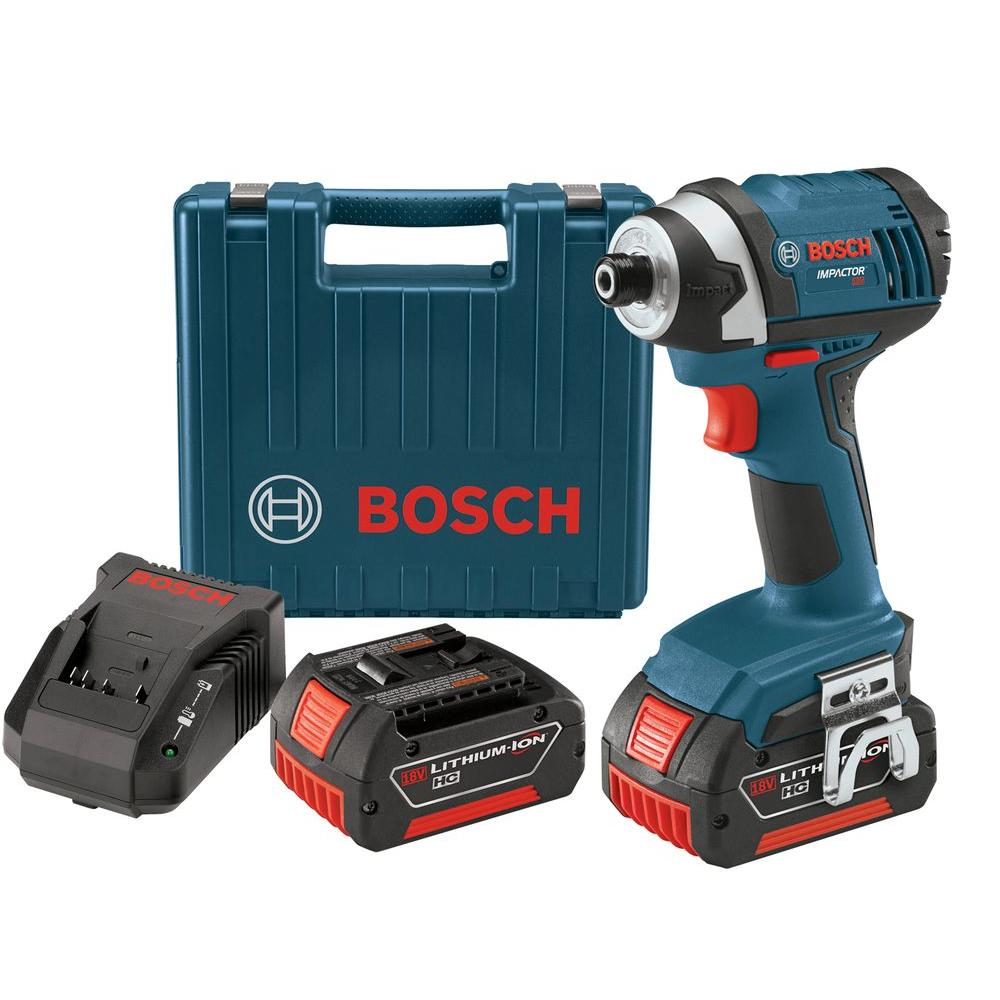 Bosch 18-Volt Lithium Ion 1/4 in. Impact Driver Kit