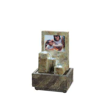 9.75 in. LED Picture Frame Table Fountain