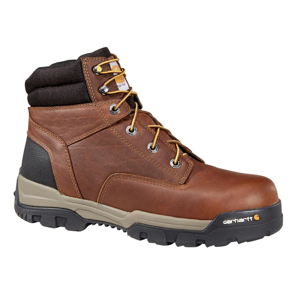 3a95913641a4 Carhartt Ground Force Men s 11.5W Brown Leather NWP Composite Safety Toe 6  in. Lace