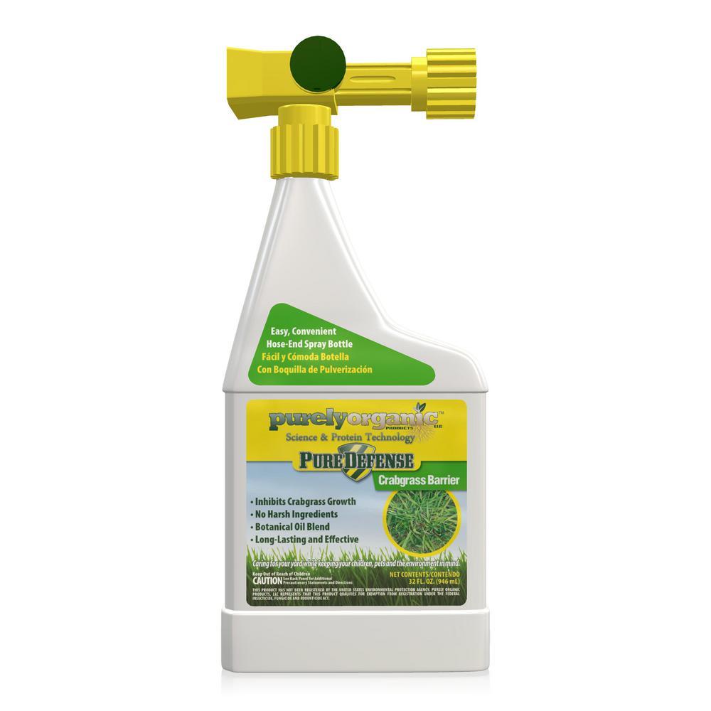 Purely Organic Products LLC Pure Defense Crabgrass Barrier 32oz. Hose End Lawn Crabgrass Preventer