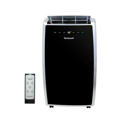 12,000 BTU Portable Air Conditioner with Dehumidifier and Remote Control in Black and Silver