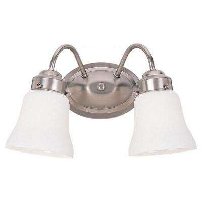 Westmont 2-Light Brushed Nickel Vanity Fixture