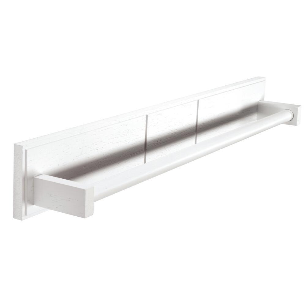 Croydex Maine 23.62 in. Towel Bar in White Wood-WA972622YW - The ...