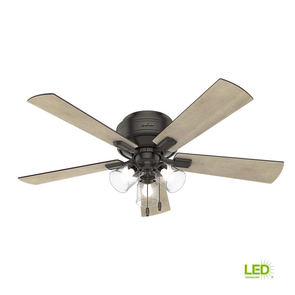 Hunter Crestfield 52 In Led Indoor Low, Home Depot Hunter 52 Inch Ceiling Fans