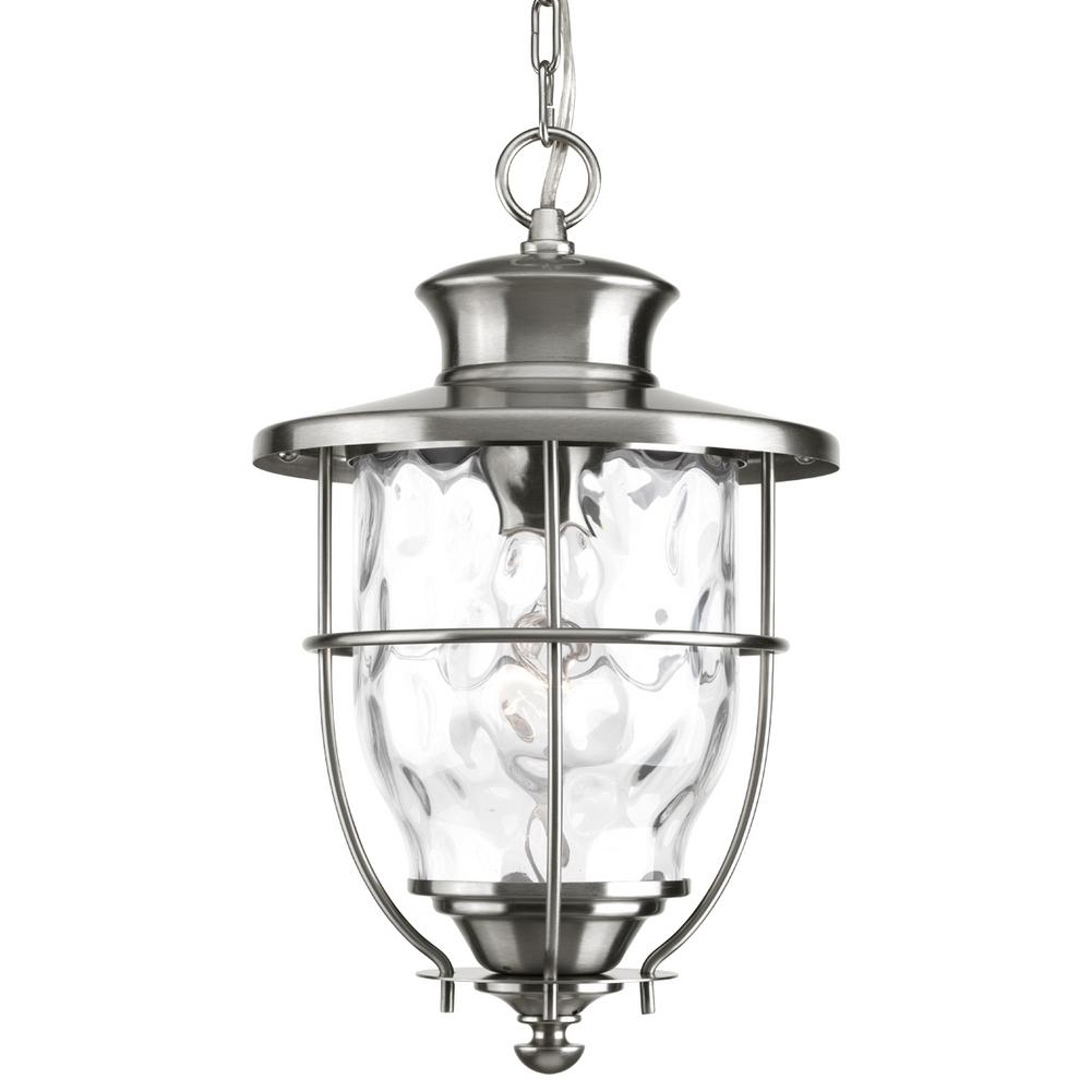 progress lighting beacon collection stainless steel outdoor hanging lantern-p6511-135di