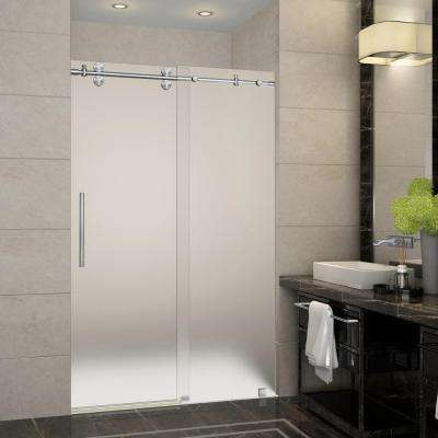 Completely Frameless Sliding Shower