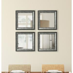 18.5 inch x 18.5 inch Sterling Charcoal Vanity Square Mirror(Set of 4) by
