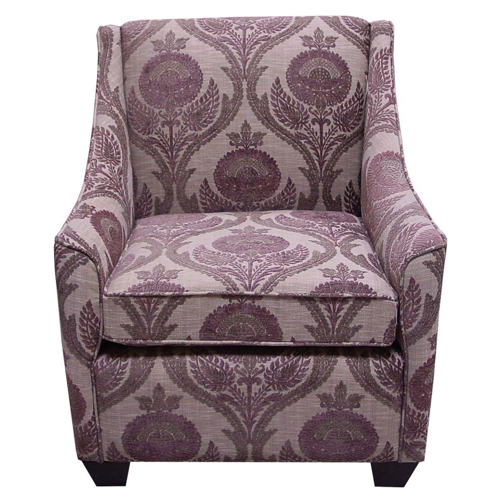 Home Decorators Collection Galena Wisteria Upholstered Arm Chair-DISCONTINUED