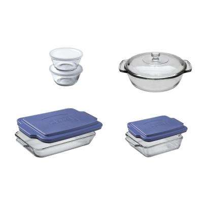 Anchor 10-Piece Clear  Bakeware Set