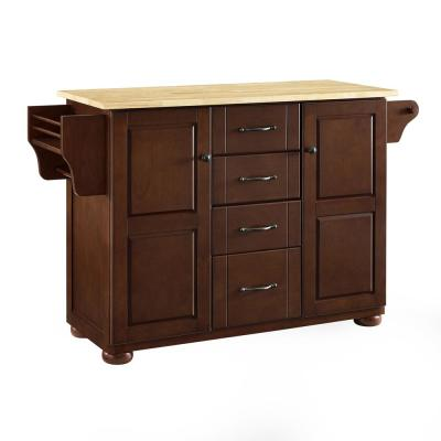Eleanor Mahogany Kitchen Island