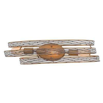 Flow 3-Light Hammered Ore Bath Vanity Light