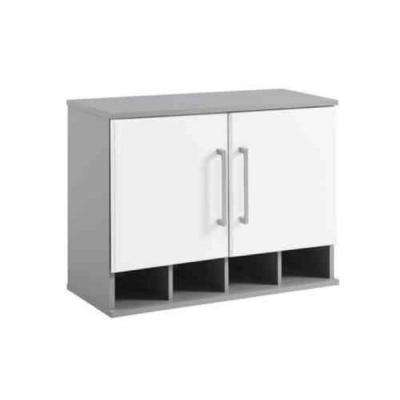 Latitude 20.9 in. H x 27.7 in. W x 11.7 in. D Wall Cabinet in Gray/White (1-Piece)