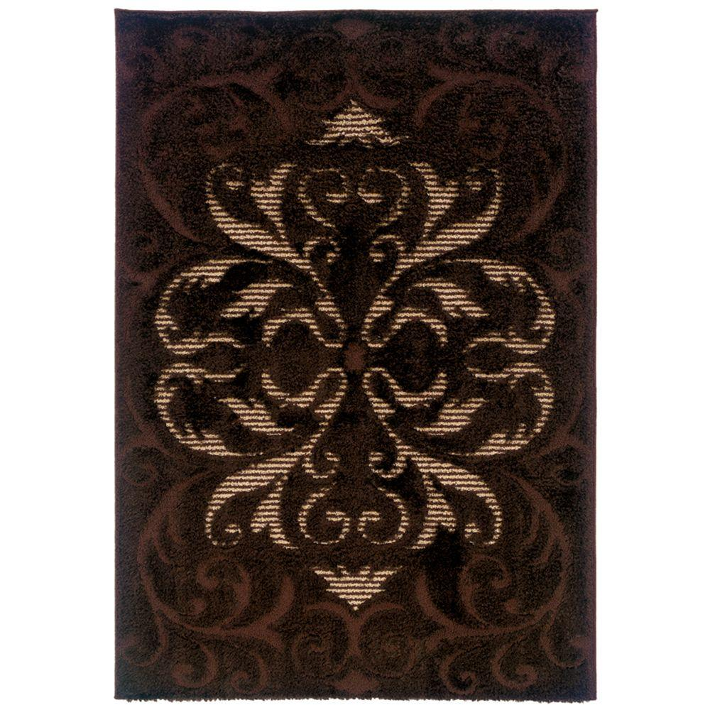 United Weavers Radiance Coffee 5 ft. 3 in. x 7 ft. 6 in. Area Rug