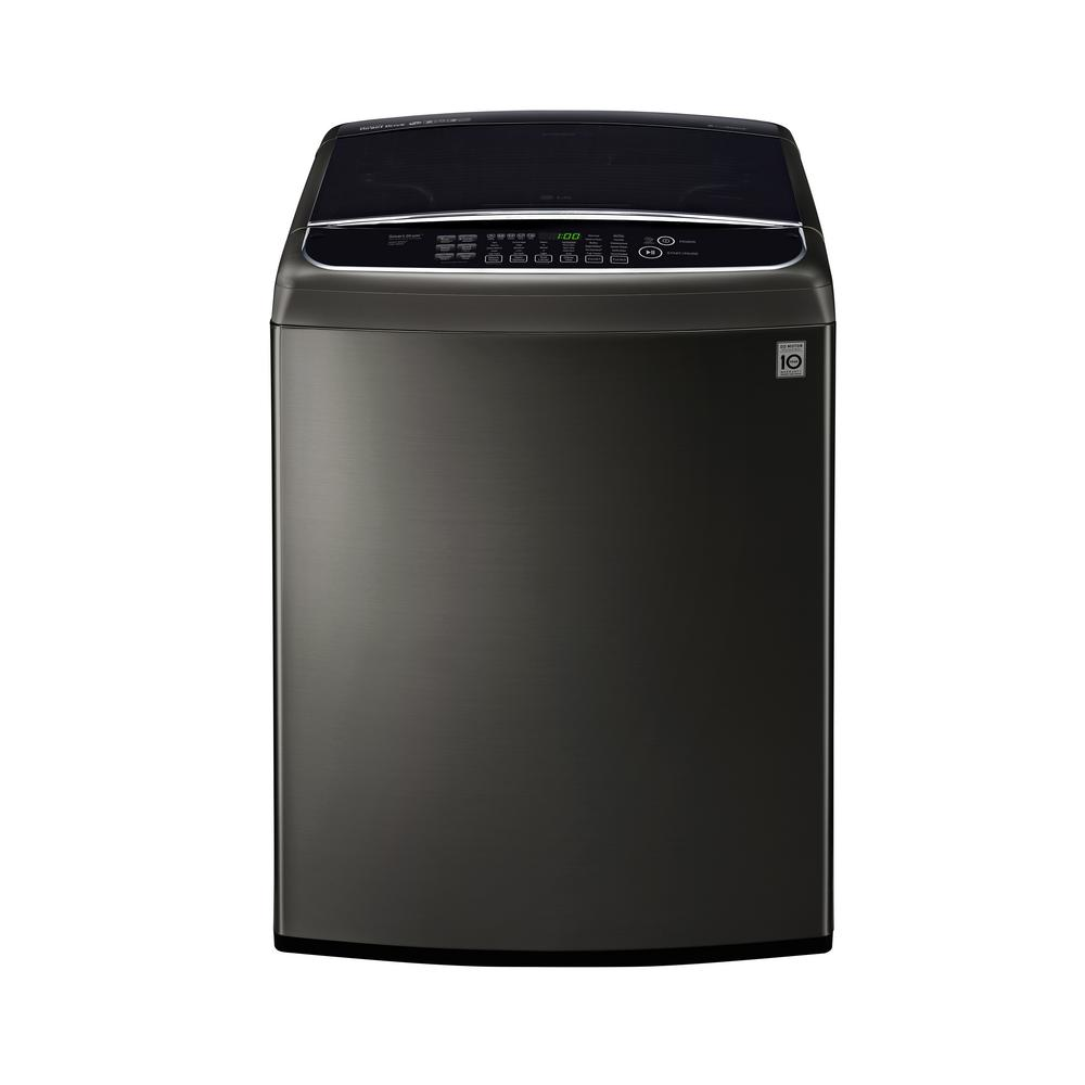 LG Electronics 5.0 cu. ft. Smart Top Load Washer with WiFi Enabled in Black Stainless Steel, ENERGY STAR