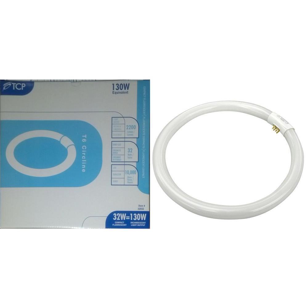 30-Watt (120W) T6 Circline Fluorescent Light Bulb
