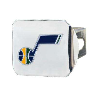 NBA Utah Jazz Color Emblem on Chrome Hitch Cover