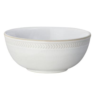 Natural Canvas White Chevron Cereal Bowl