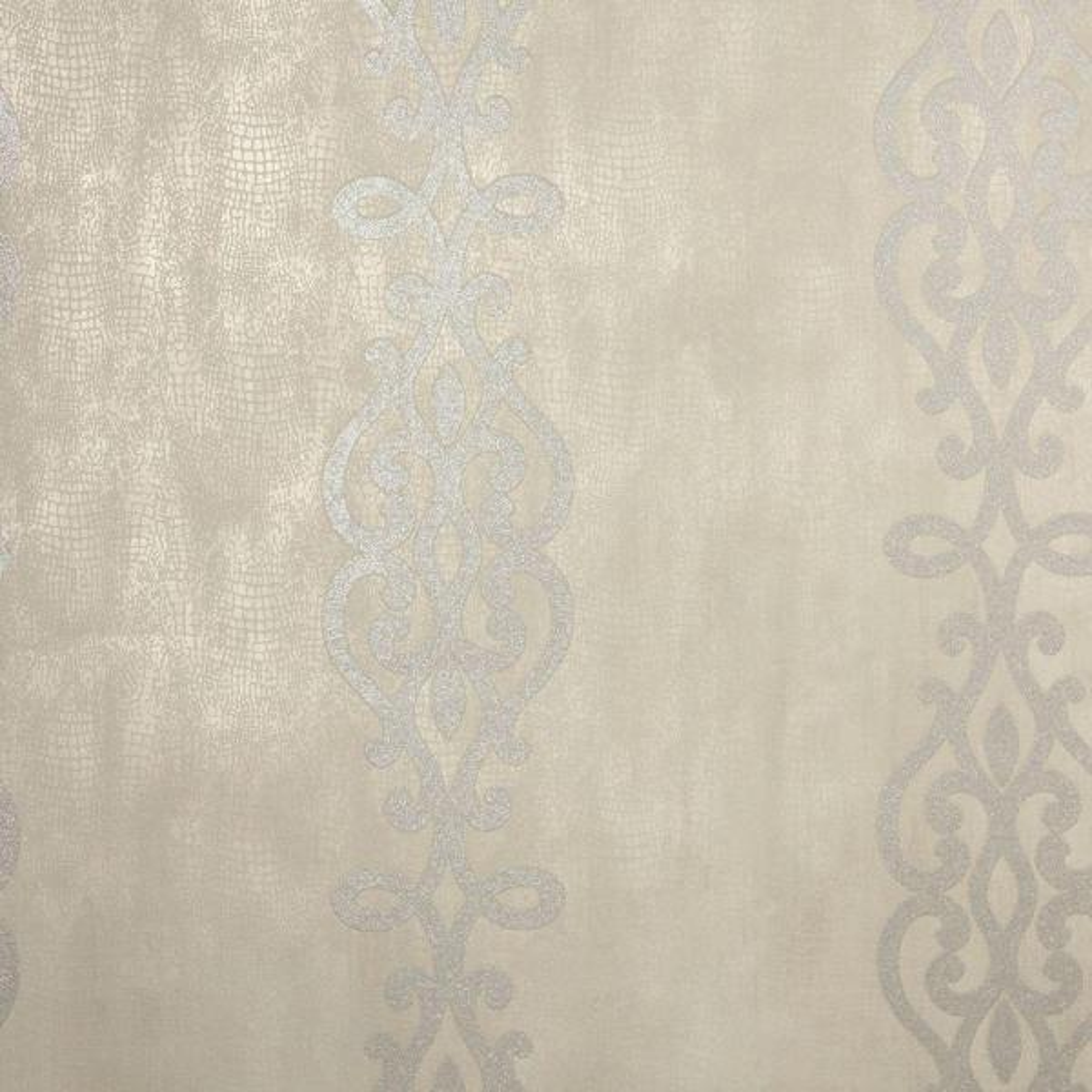 Kenneth James Anaconda Taupe Glitter Stripe Wallpaper 2542-20721