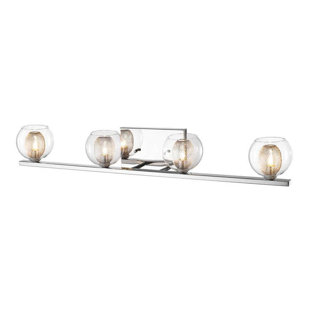 Filament Design Peak 4-Light Chrome Bath Vanity Light