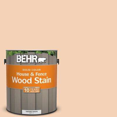 1 gal. #280C-2 Serene Peach Solid Color House and Fence Exterior Wood Stain