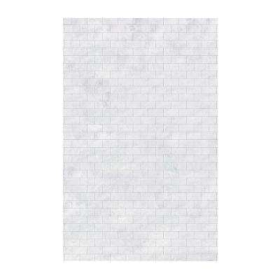 Subway Tile 62 in. x 96 in. 1-Piece Easy Up Adhesive Shower Panel in Ice