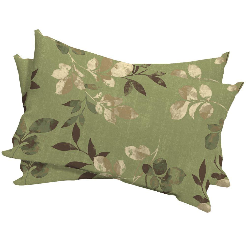 Hampton Bay Parson Outdoor Lumbar Pillow (2-Pack)-DISCONTINUED