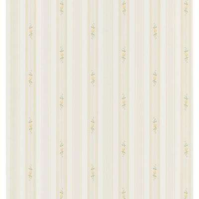 Rosebud Stripe Wallpaper