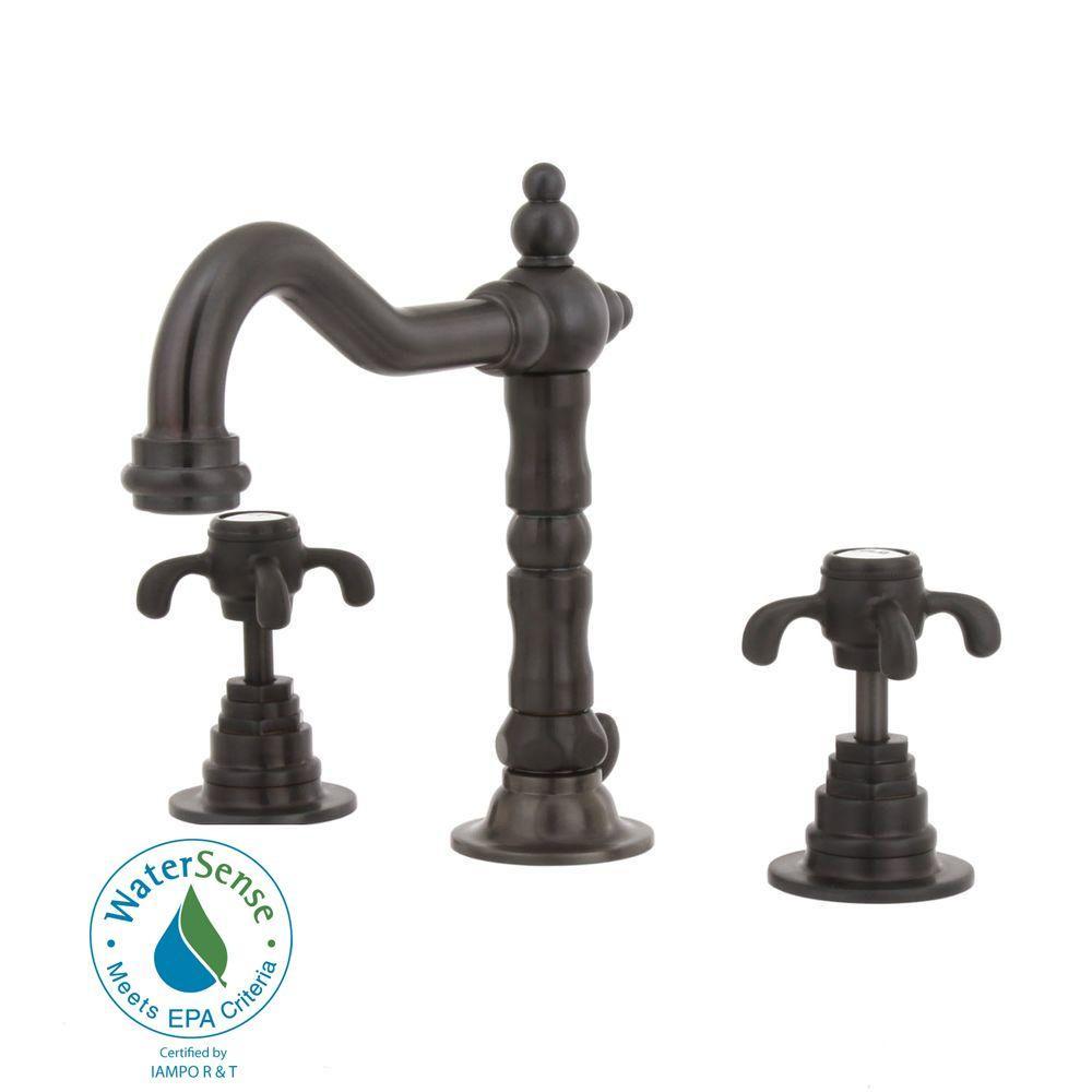 LaToscana Ornellaia 8 in. Widespread 2-Handle Mid-Arc Bathroom Faucet in Oil Rubbed Bronze