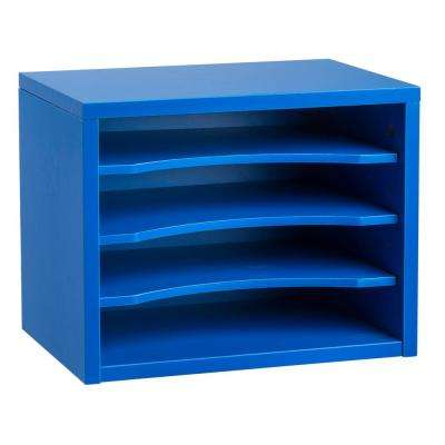 Stackable Desk Organizer with Removable Shelves, Blue