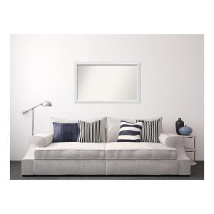 Medium Rectangle White Modern Mirror (30 in. H x 48 in. W)