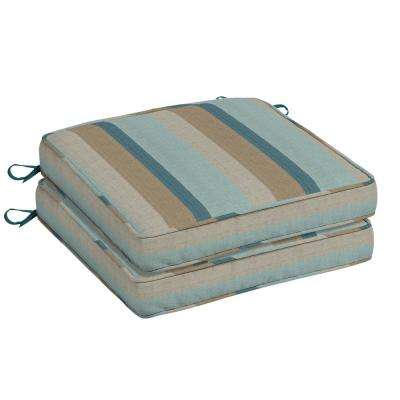 Awesome Sunbrella Gateway Mist Square Outdoor Seat Cushion (2 Pack)