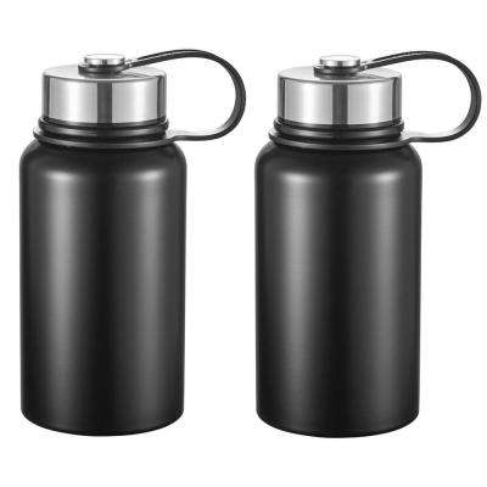 Seeder 20 oz. 2-Piece Matte Black Vacuum Water Bottle