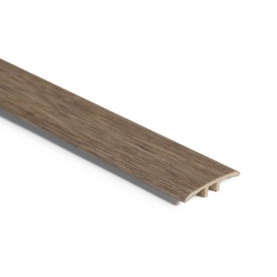 English Walnut 3/16 in. Thick x 1-3/4 in. Wide x 94 in. Length Vinyl T-Mold Molding