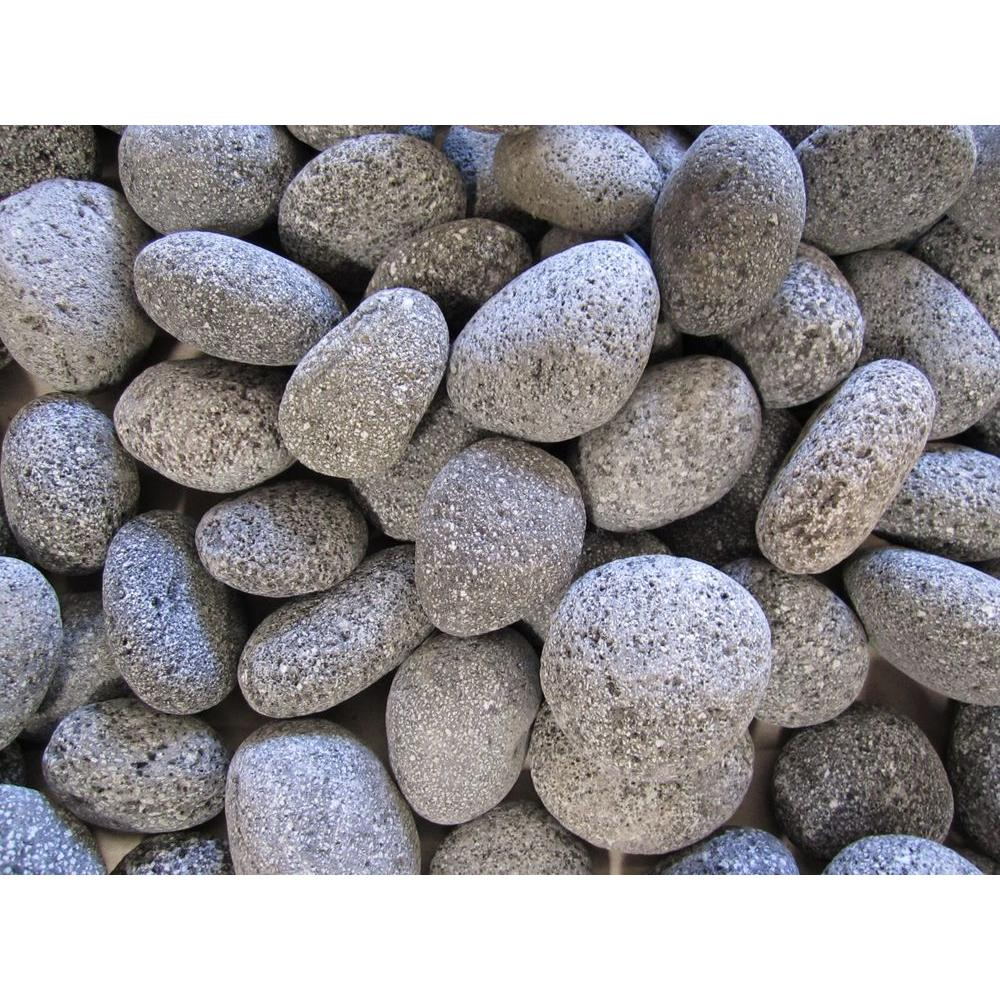 Margo Garden Products 20 Lb. Black Lava Pebbles