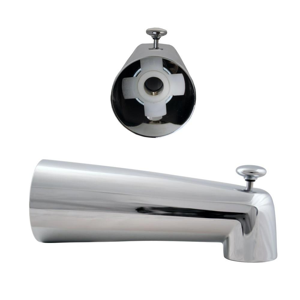 Westbrass 7 in. Diverter Spout in Polished Chrome
