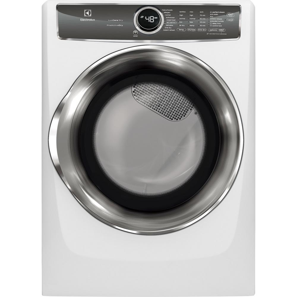 electrolux 8 0 cu ft white electric dryer with steam predictive rh homedepot com Electrolux Dryer Recalls Electrolux Dryer Recalls